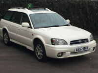 2002 '52' Subaru Legacy Outback 3.0 H6 ( Lux Pack ) Auto, 5 Door Estate, Petrol.