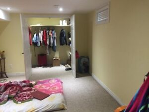 Clean and big Basement Room for rent
