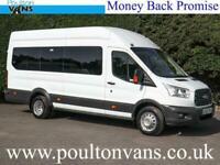 FORD TRANSIT 460 DRW TREND ECONETIC EURO 6 L4 H3 XLWB HIGH ROOF 17 SEAT MINIBUS