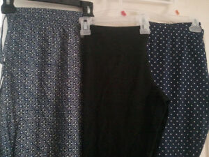 3 M size women leggings/ pants soft cotton, New without tag