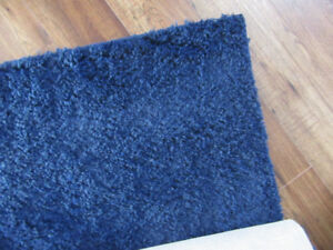 "Navy Blue Area Rug  65"" x 48 (5'-4 x 4 feet) Excellent condition"