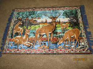 Vintage Velvet Tapestry Wall Hanging - never used or hung