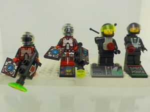 Lego Minifigures Space, Space Police, Aqua Mini figures