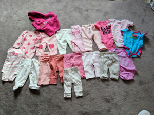 Baby girl clothing(18 items) size 0-3 - SPFH
