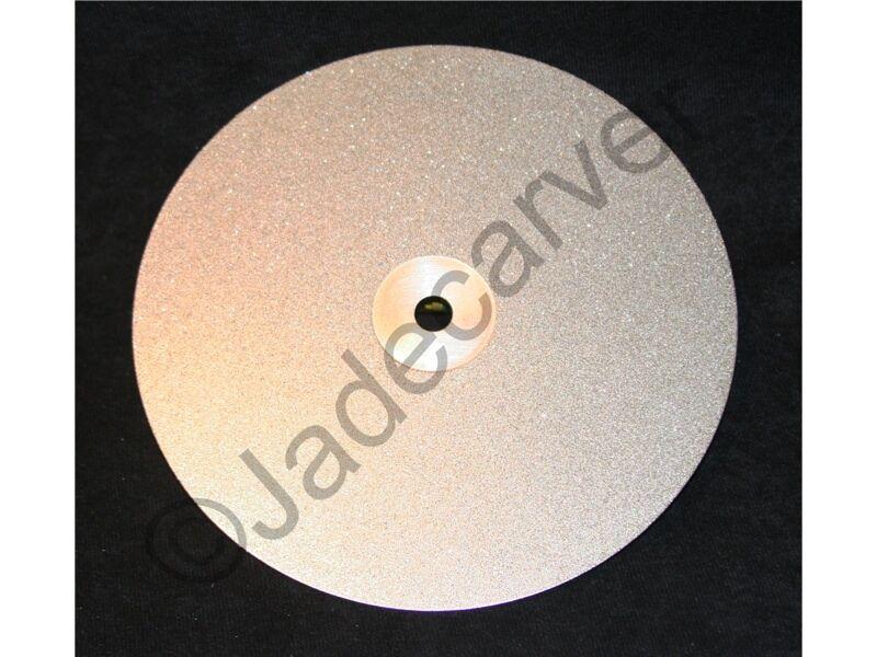 "8"" Diamond Flat Lap Disk, 360 grit, Lapidary, Glass, Faceting, Polishing"