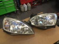 Vauxhall corsa C headlights pair driver & passenger side