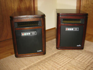 2 duraflame electric heaters. 1500w.  $45.00 each.