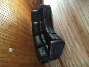 Real Leather Couches with Recliners