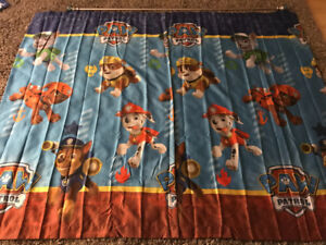 Paw Patrol curtains and pole
