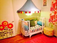 Modern CRIB Convertible{3 stages] includes 2x Mattress - $300