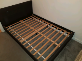 Double bed with headboard for sale