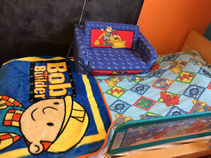 Bob the builder fleece blanket and single bed sheets