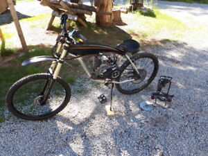 Complete Motorized bicycle, aluminum gas tank frame 4 stroke.