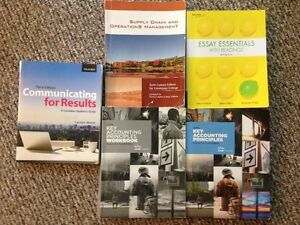 First Year Business Text Books for Conestoga College