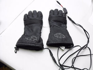 Harley-Davidson Leather heated driving gloves