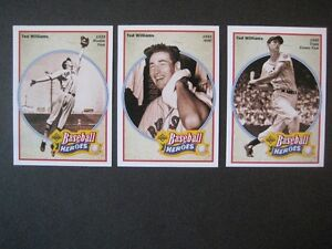 TED WILLIAMS, 8 CARTES UPPER DECK. 1991