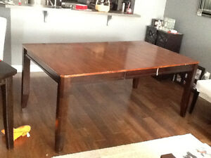 Wooden Two Tone Dinning Room Table