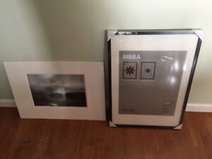 Ikea picture frame and two mats