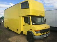 2002 51 Mercedes 814d Vario 3 Container Removal Van Lorry 7.5t Side Doors Mobile