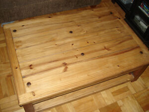 Rustic Santa Fe Solid Pine Cocktail / Coffee Table
