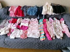 Baby girl clothes bundle 0-3 m