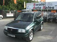 2002 SUZUKI GRAND VITARA SE 1.6L 4 WHEEL DRIVE, IDEAL FOR BAD WEATHER