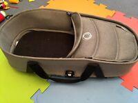 Bugaboo Bee 3 bassinet grey melange with adaptors, Mattress, Carrycot Ba