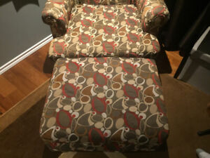 Accent Chair and Ottoman