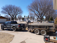 Man+1ton+12'dump trailer=$55/hr