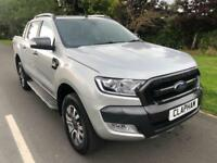 2016 16 FORD RANGER WILDTRAK 3.2TDCI 200BHP 4X4 SILVER 1 OWNER ANY UK DELIVERY