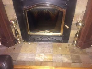 HD brass fireplace ensemble