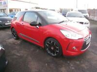 2012 Citroen DS3 1.6 VTI DStyle Plus. Red / Black 12 Months MOT