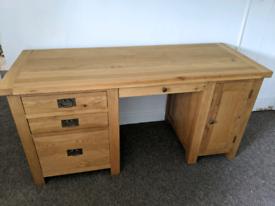 Desk solid oak