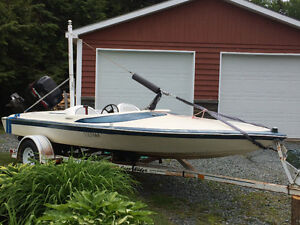 J craft speed boat with working 125hp motor and trailer