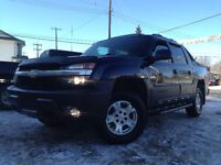 2004 CHEVY AVALANCHE Z71 = HEATED LEATHER = SUNROOF = DVD