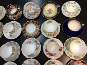 For sale fine bone china C&S at $ 18 a pair by Aynsley, Shelley