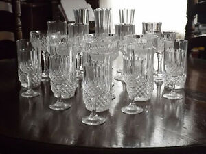 Mixed Set of Cristal D'Arques Crystal Glassware