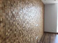 Real Hardwood Mosaic Tiles /3D Mosaic  tiles