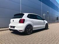 2015 15 reg Volkswagen Polo 1.8 TSI GTI + WHITE + PERFORMANCE STYLING KIT