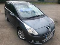 PEUGEOT 5008 2.0HDi DIESEL ALLURE 7 SEATER PANORAMIC GLASS ROOF BLUETOOTH 2012