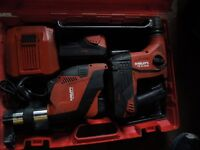 Hilti (TE 6-a36 AVR) 36V roto hammer w/ (DRS-6-A) Dust Collector
