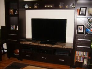 Four piece entertainment center