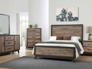 6pc Rustic Solid Wood Queen bedroom set $999.