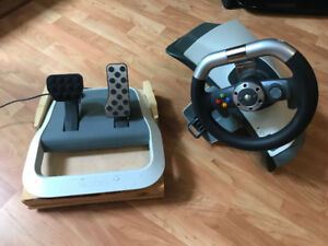 Xbox 360 Steering Wheel and Foot Pedals