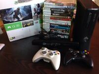 Xbox 360 250gb CONSOLE with KINECT plus lots of games!