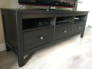 IKEA Brimnes TV bench / stand - solid wood black-brown colour