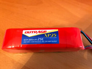 OUTRAGE 25C 5S LIPO BATTERY 18.5V 5000mAh r/c helicopter car