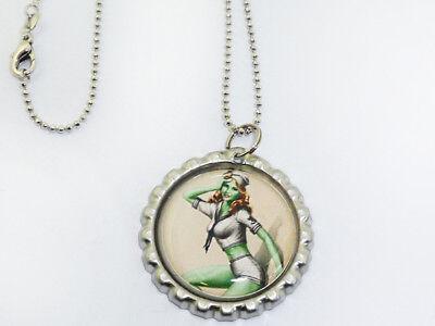 ZOMBIE pin up Sailor Dots Kronkorken rockabilly Bottle Cap Halskette ()