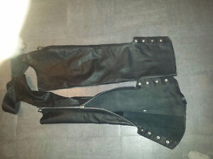 BRISTOL LEATHER CHAPS NEW