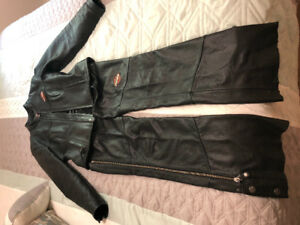 Woman's Harley chaps and jacket